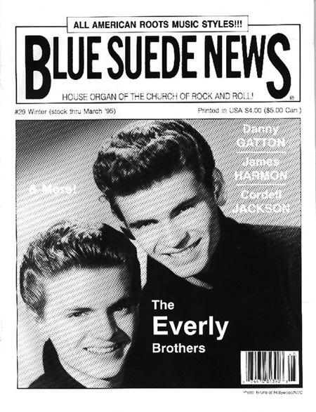 Blue Suede News 29 Feature Articles Include An Extensive Article About The Everly Brothers From Country Roots To Cadence Hits